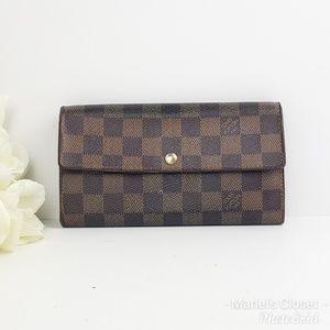 Louis Vuitton Damier Ebene Sarah wallet #1674M
